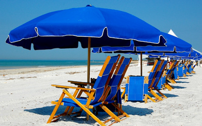 Beach chair and umbrella package. No better way to enjoy a hassle free day in Myrtle Beach.